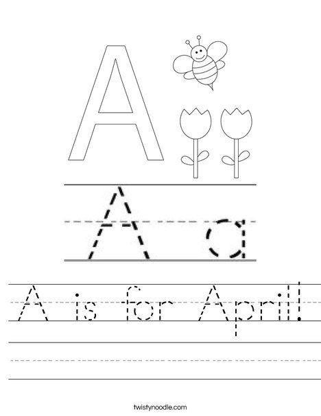 A is for April Worksheet