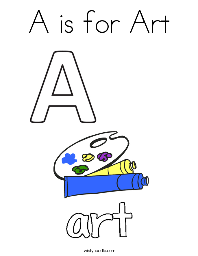 A is for Art Coloring Page