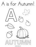 A is for Autumn! Coloring Page