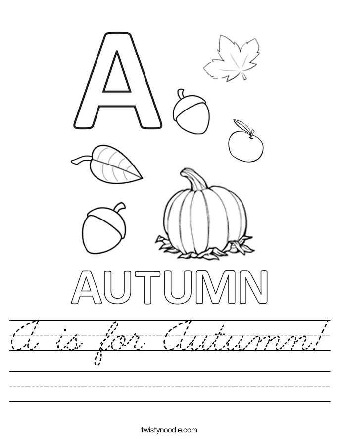 A is for Autumn! Worksheet