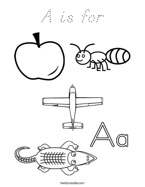 A is for Coloring Page