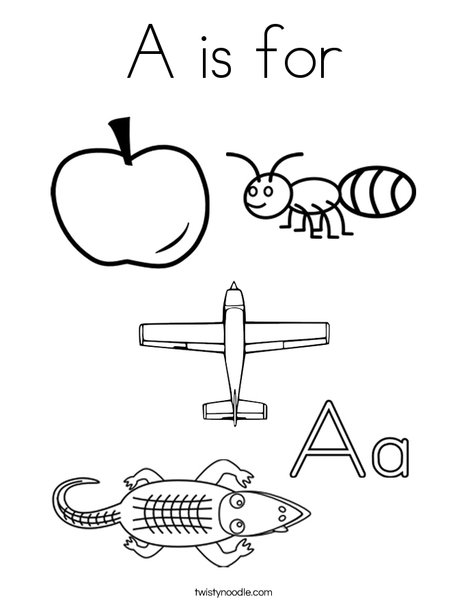 a is for coloring page - Coloring Page A