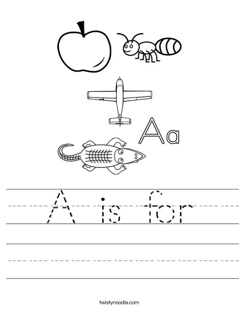 A is for Worksheet