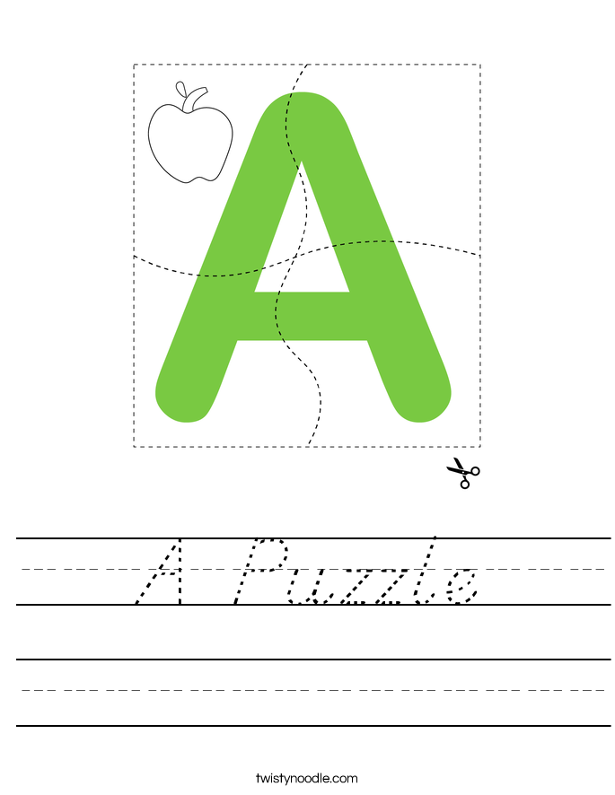 A Puzzle Worksheet