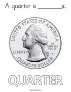 A quarter is ________¢ Coloring Page