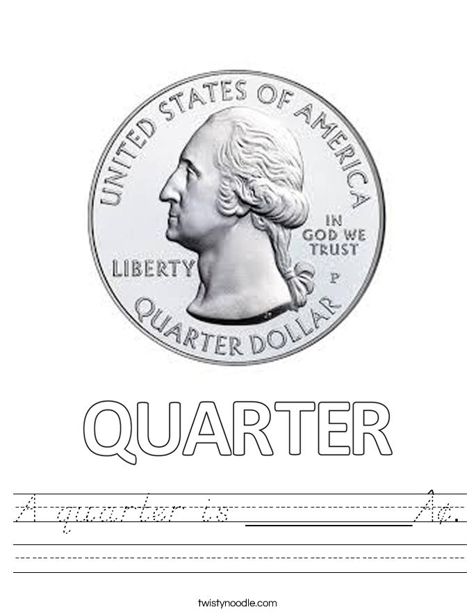 A quarter is ________¢. Worksheet