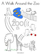 A Walk Around the Zoo Coloring Page