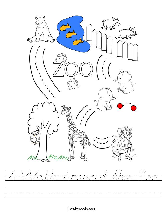 A Walk Around the Zoo Worksheet