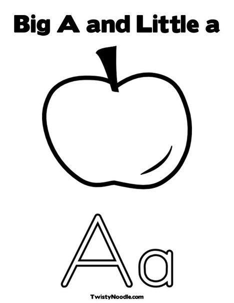 Big and Little Letter A Coloring Page