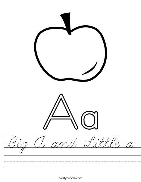 Big and Little Letter A Worksheet