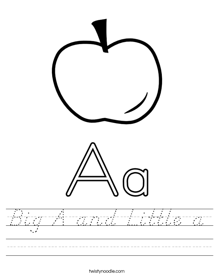 Big A and Little a Worksheet