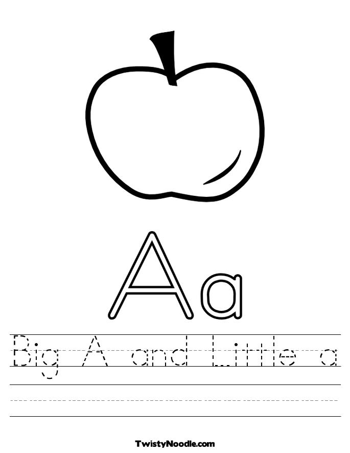Big and Little Letter A Worksheet