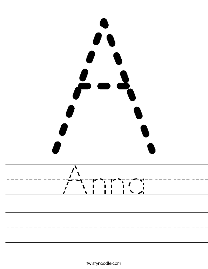 Anna Worksheet