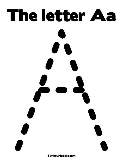 the letter a coloring sheet. Print Your Coloring Page