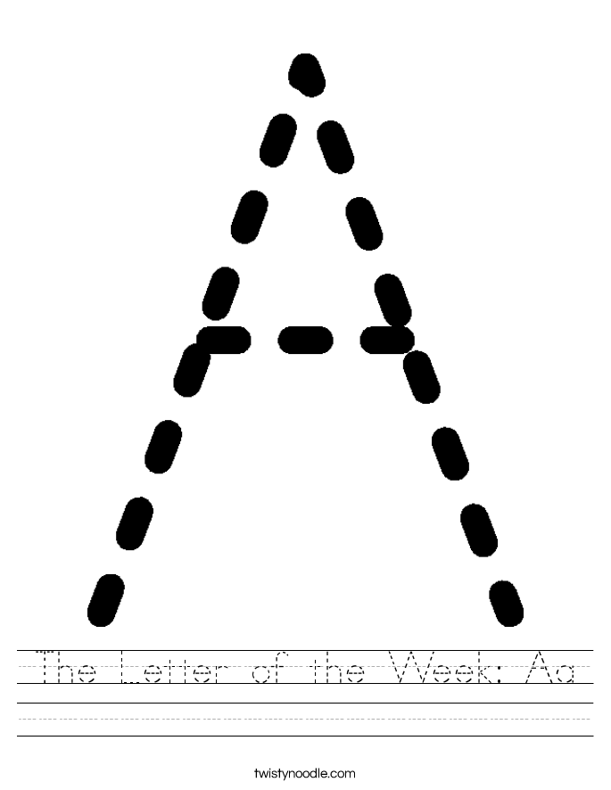 The Letter of the Week: Aa Worksheet