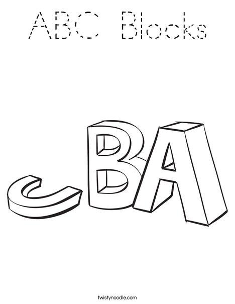 ABC Blocks Coloring Page