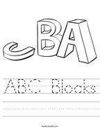 ABC Blocks Handwriting Sheet