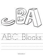 ABC Blocks Handwriting Sheet
