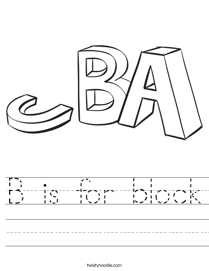 B is for block Worksheet