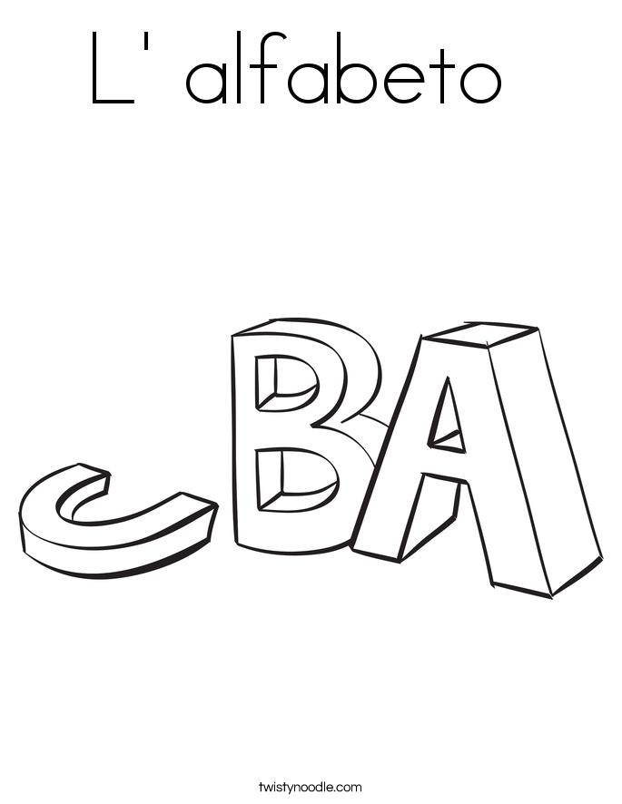L' alfabeto  Coloring Page