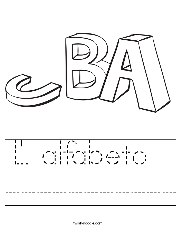 L' alfabeto  Worksheet
