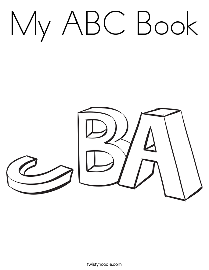 My ABC Book Coloring Page