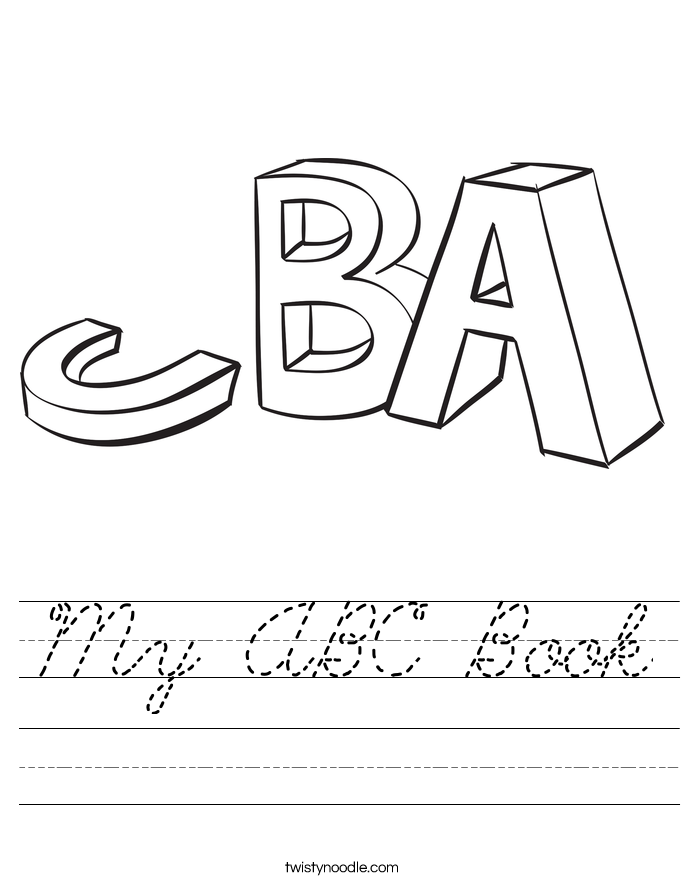 My ABC Book Worksheet