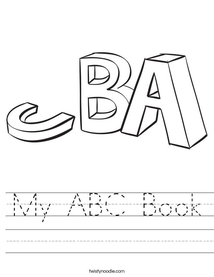My ABC Book Worksheet