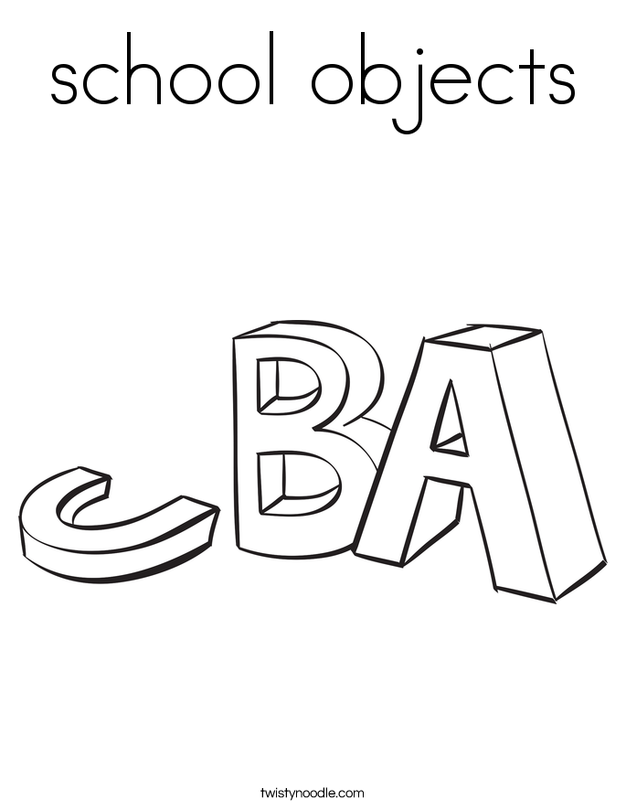 school objects Coloring Page