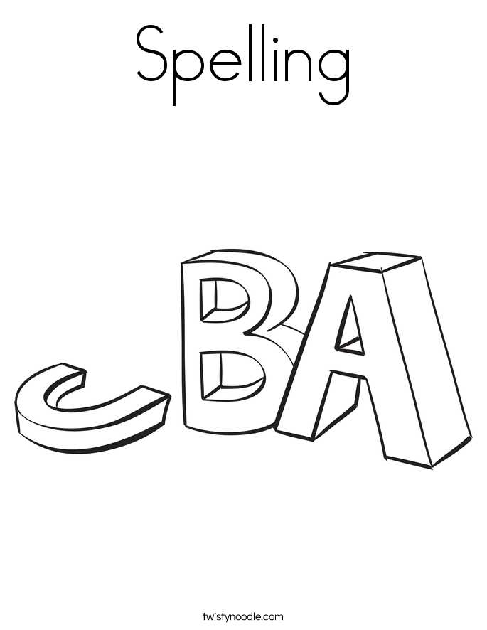 spelling coloring page