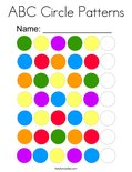 ABC Circle Patterns Coloring Page