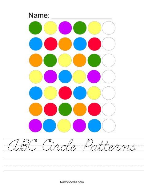 ABC Circle Patterns Worksheet
