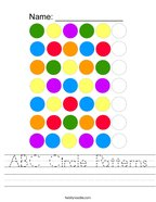 ABC Circle Patterns Handwriting Sheet