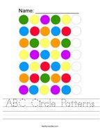 ABC Circle Patterns Handwriting Sheet