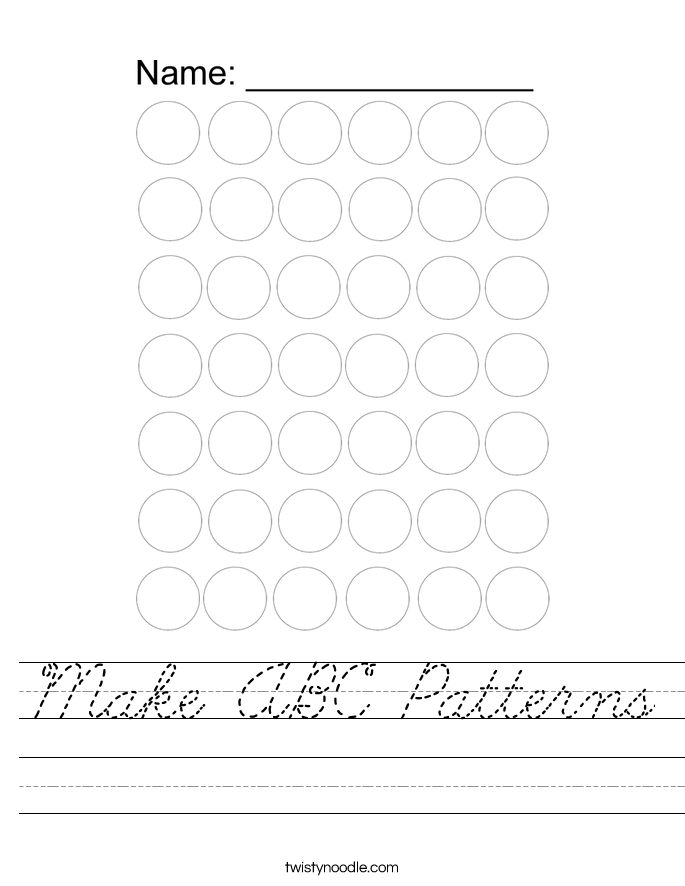 Make ABC Patterns Worksheet