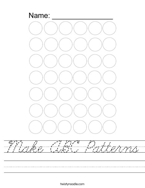 ABC Pattern Worksheet