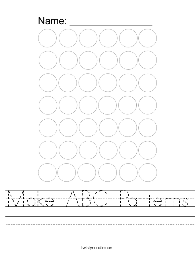 Make ABC Patterns Worksheet