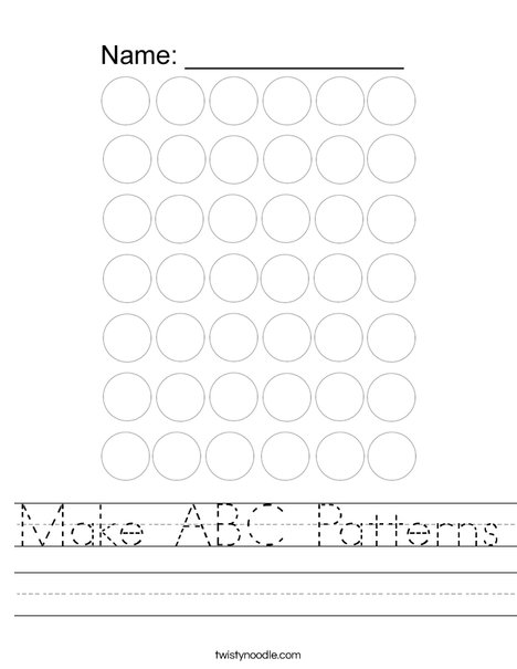 ABC Pattern Worksheet
