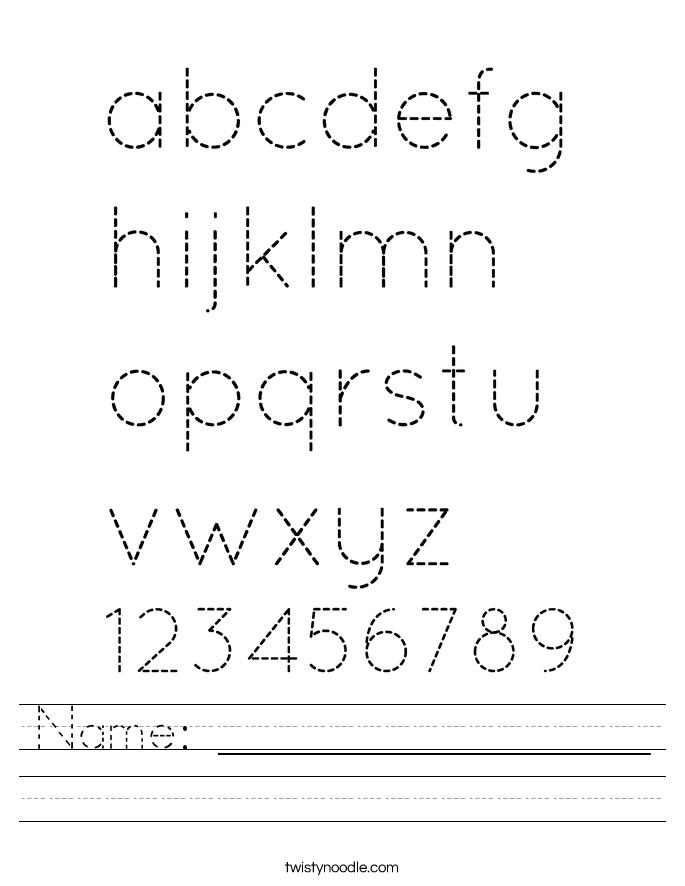 Trace Your Name Worksheet Printable | Kiddo Shelter