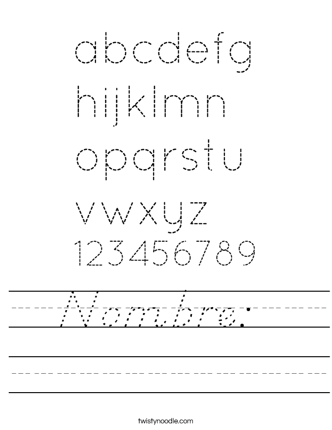 Nombre:  Worksheet