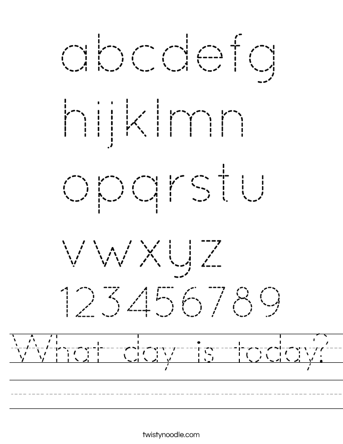 What day is today? Worksheet