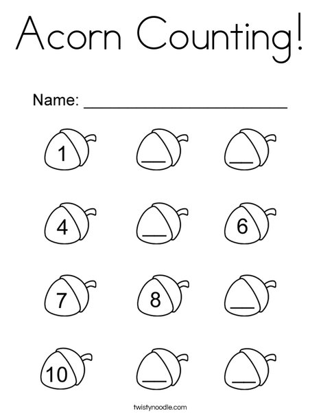 kindergarten counting coloring pages - photo#5
