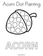 Acorn Dot Painting Coloring Page