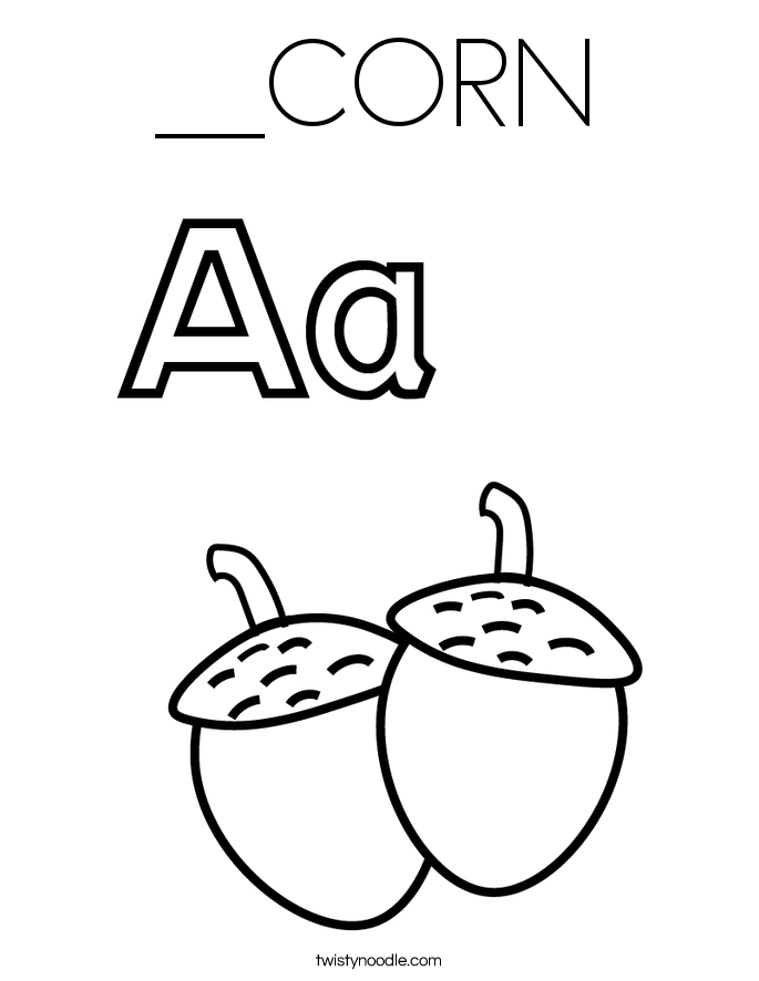 __CORN Coloring Page