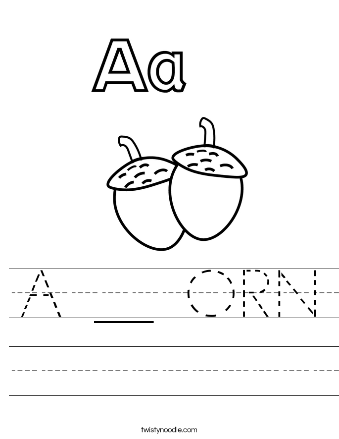 A __ ORN Worksheet