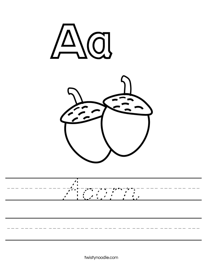 Acorn Worksheet