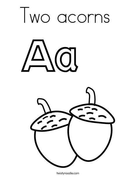 Acorns Coloring Page