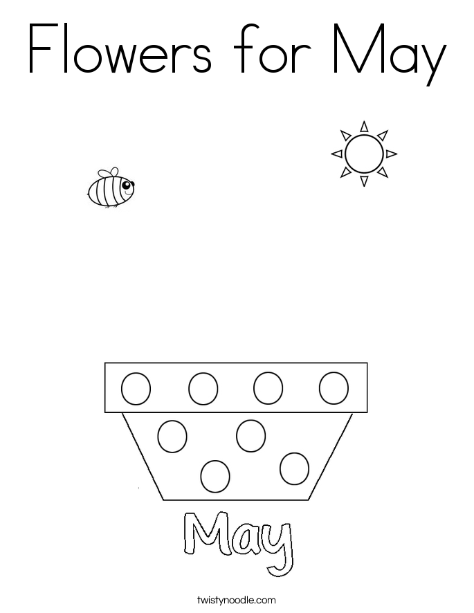 Flowers for May Coloring Page