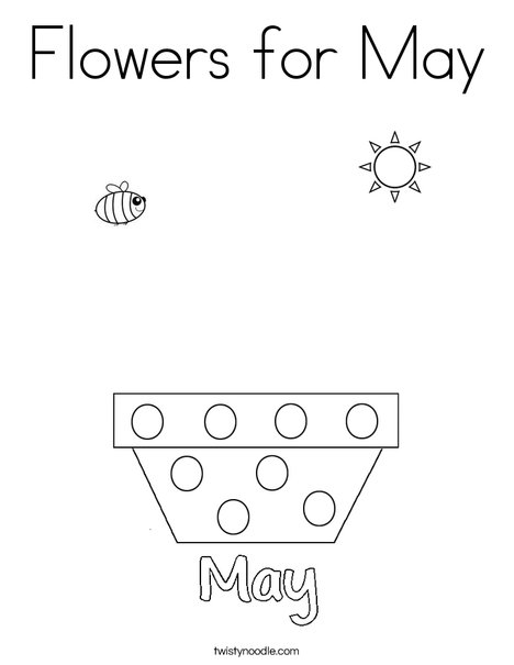 flowers for may coloring page twisty noodle