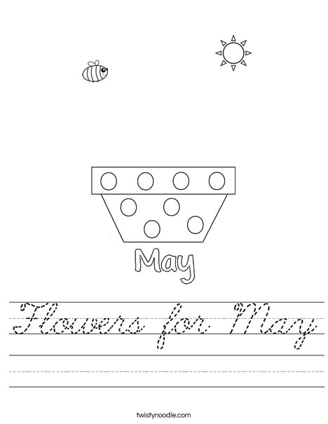Add flowers for May Worksheet